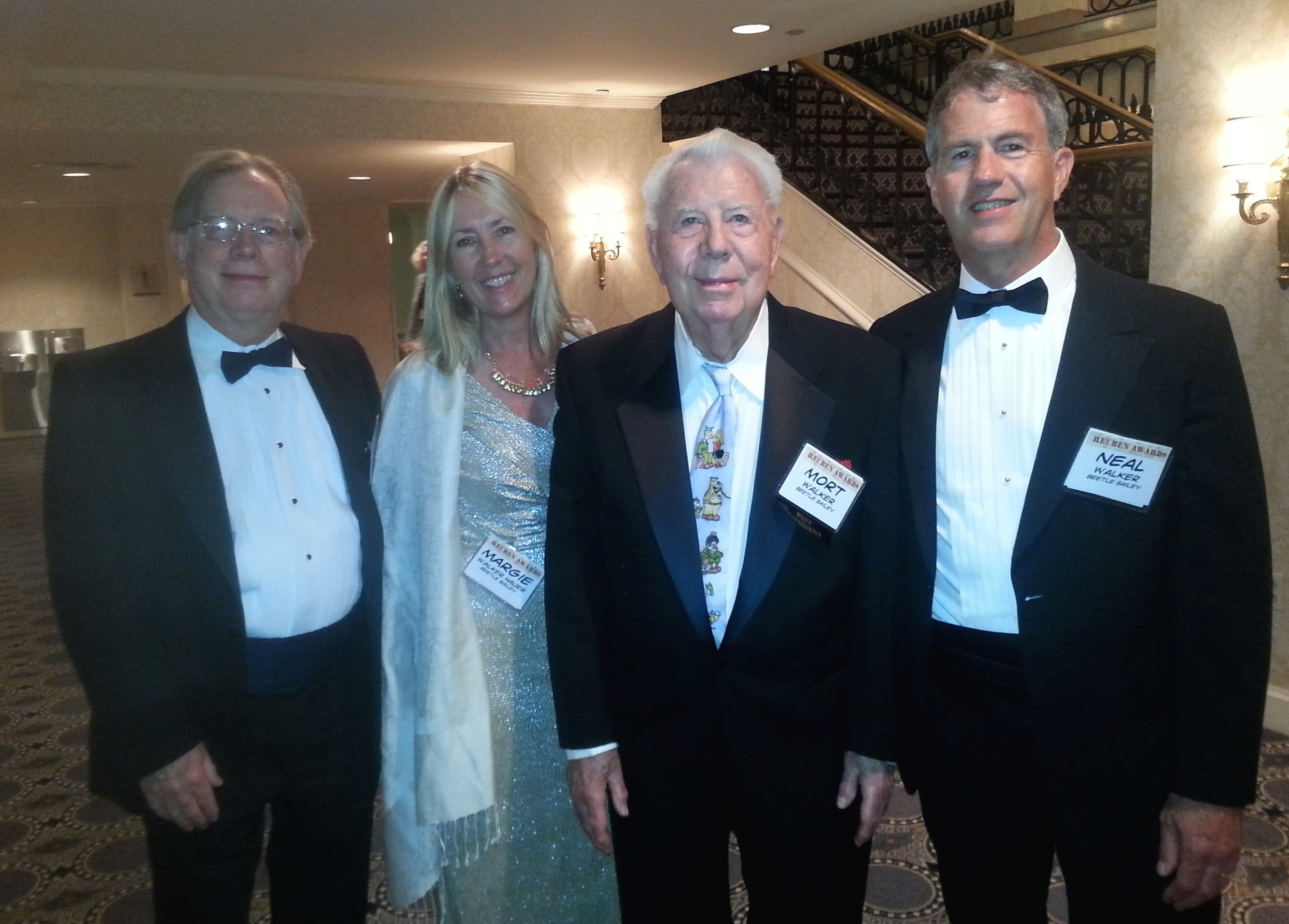 Left to right:  Greg, Margie, Mort and Neal Walker.