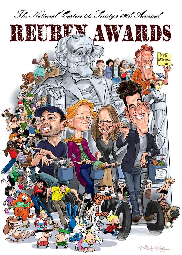Reuben Award artwork by Ed Steckley.