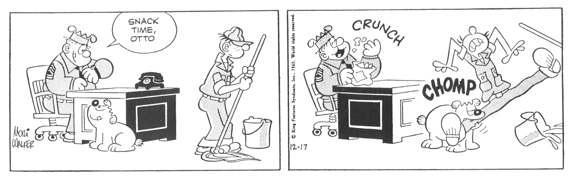 Beetle Bailey daily strip, December 17, 1965.