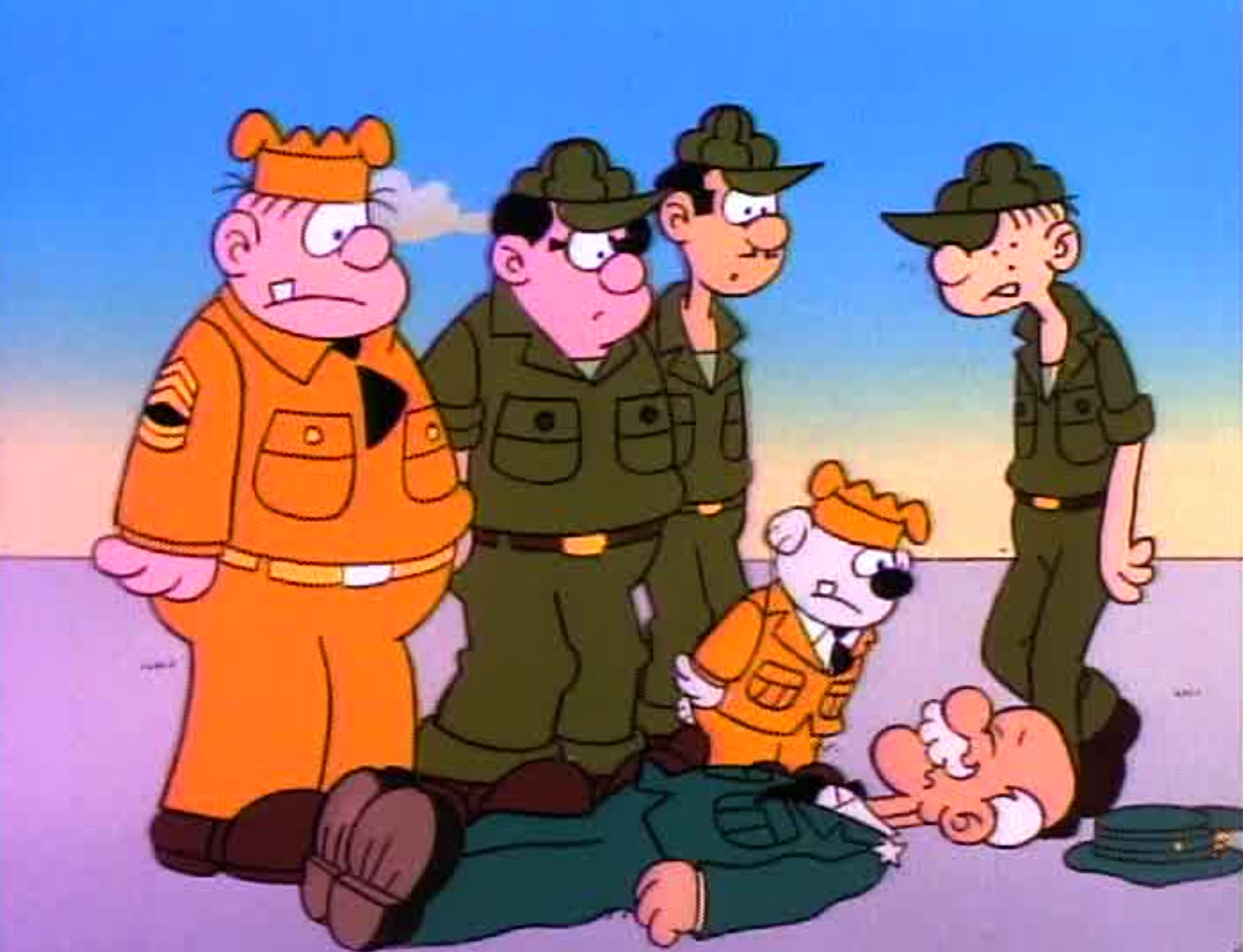 A still from the 1989 Beetle Bailey CBS Special.