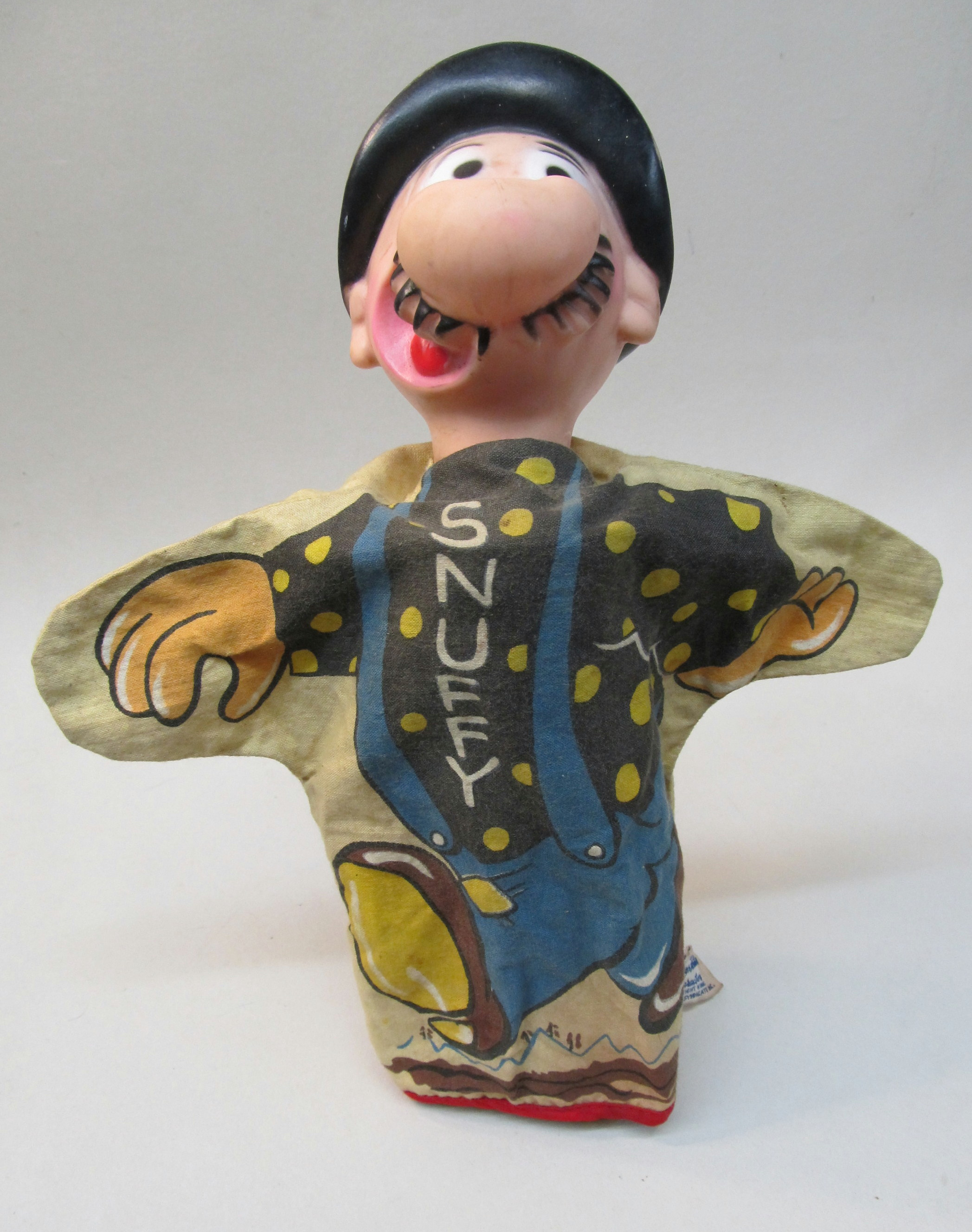 Snuffy Smith hand puppet by Gund, early 1960s.