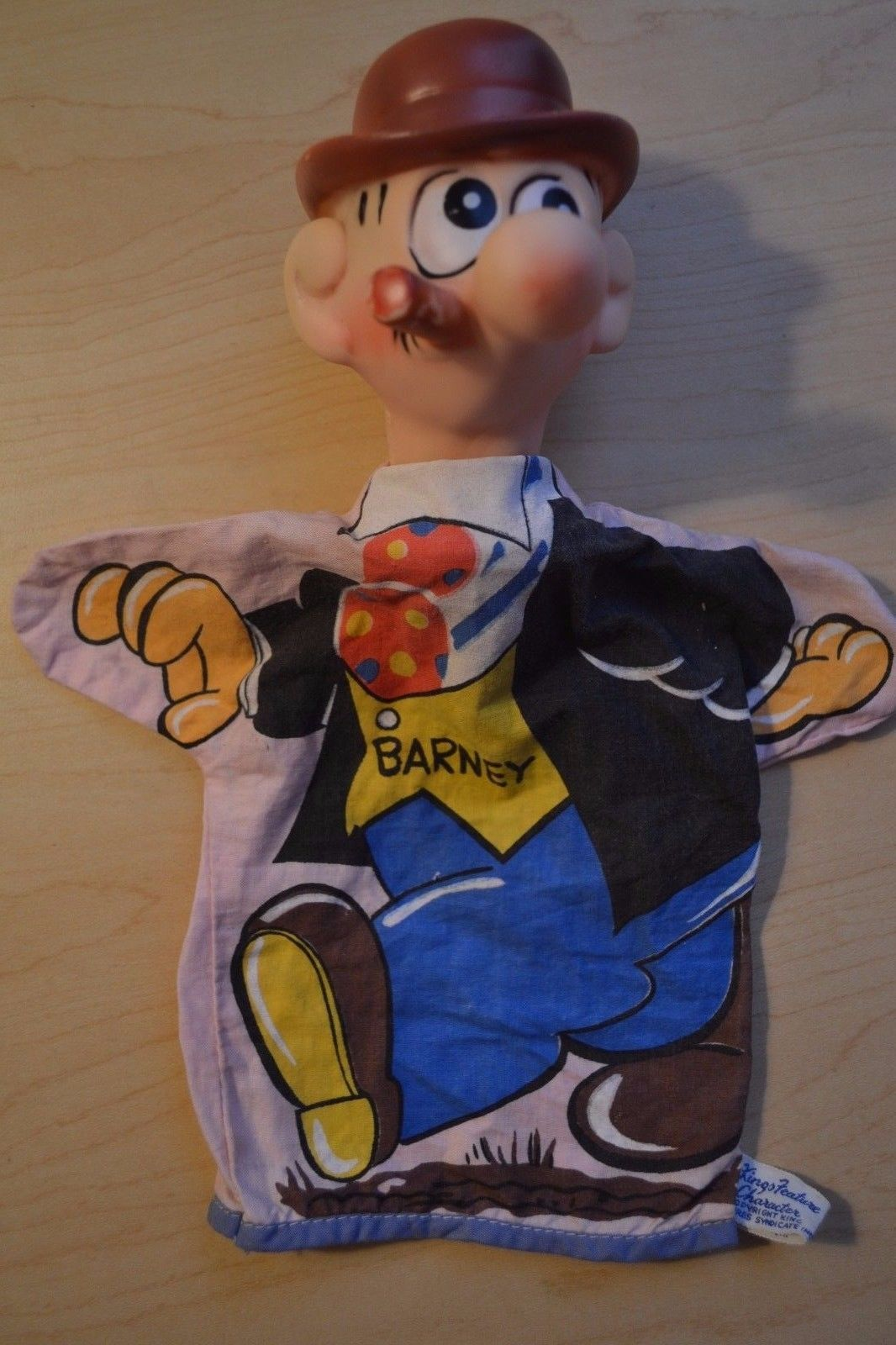 Barney Google hand puppet by Gund, early 1960s.