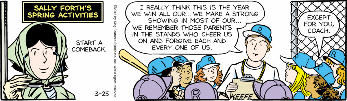 Sally Forth – March 25, 2015