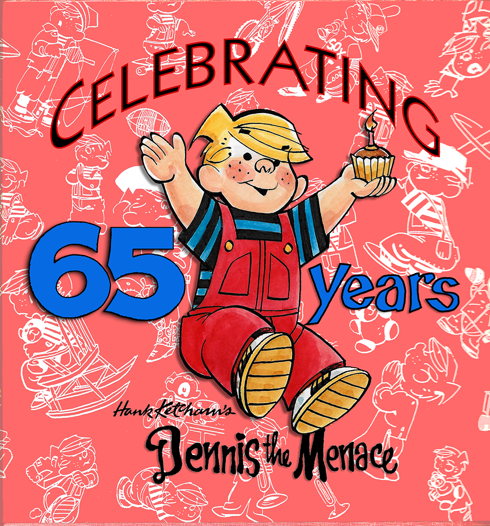 65th DENNIS Logo Red Bkgd