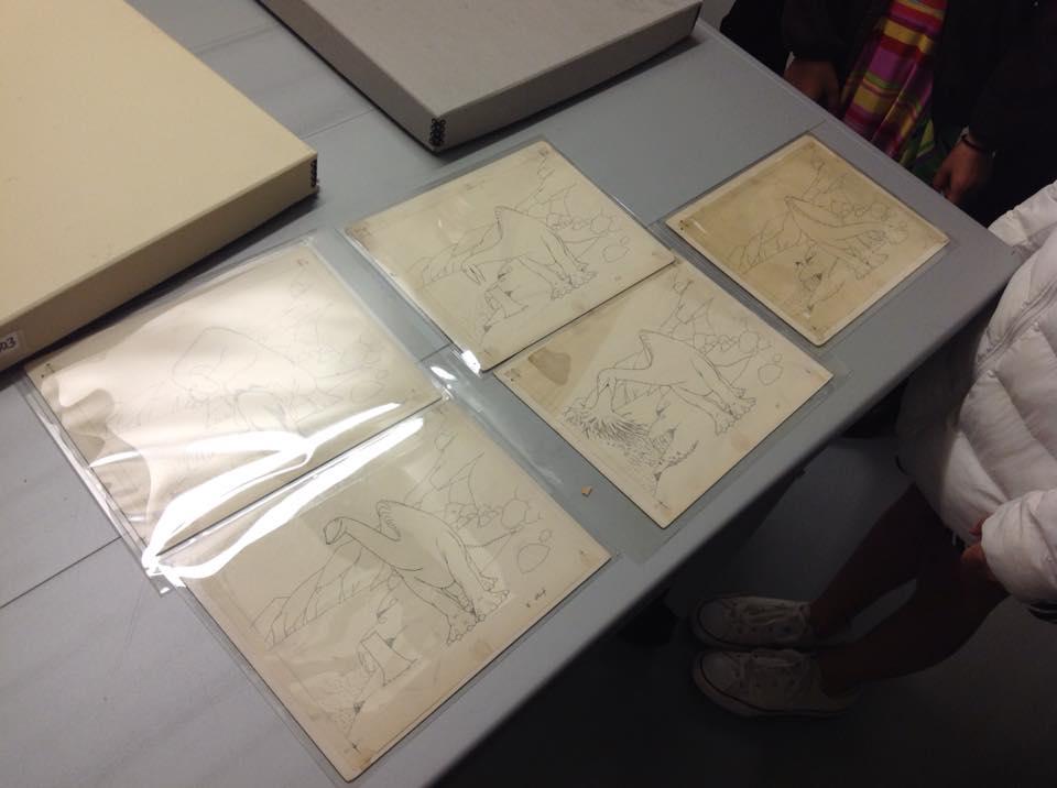 Original 'Gertie The Dinosaur' drawings (Google it.)