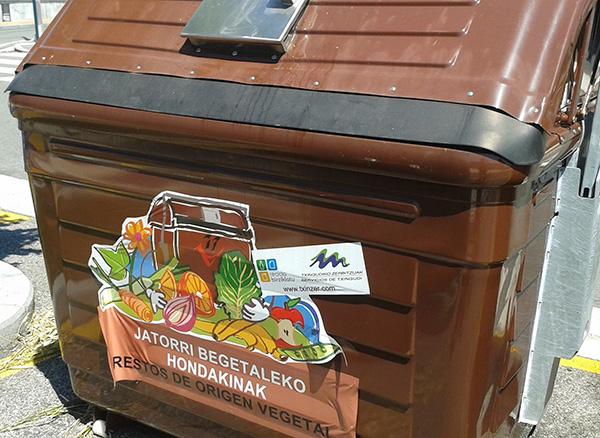 comunal compost bin in Hondarribia
