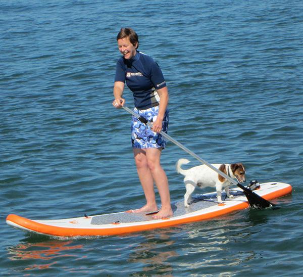 paddleboarding on the Bidasoa River