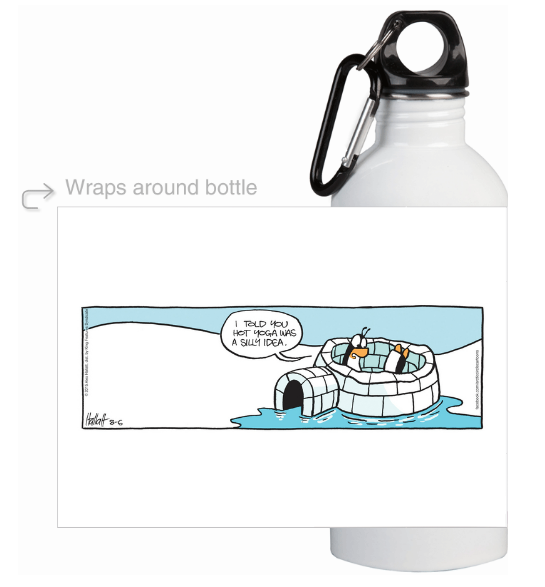 Buy a BPA free water bottle featuring Arctic Circle