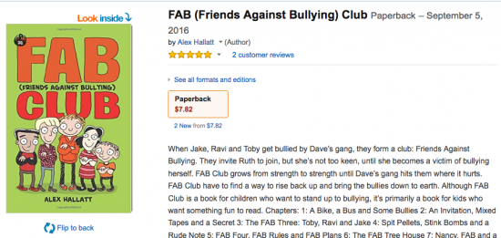 Children's book about bullying now on Amazon