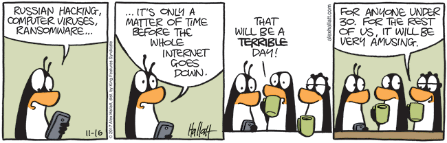 cartoon about the internet going down