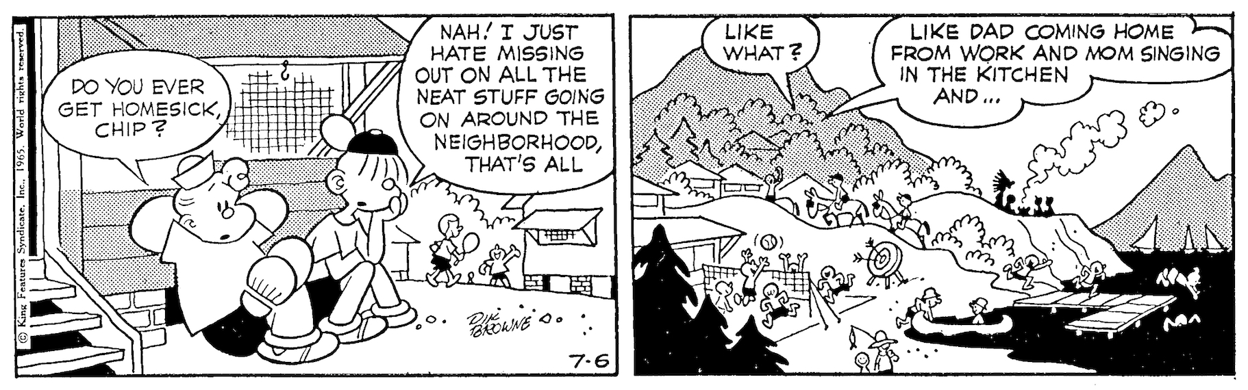 Hi and Lois daily strip, July 6, 1965.