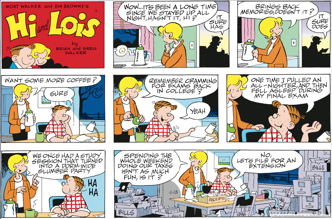 Hi and Lois Sunday page, April 13, 1997.