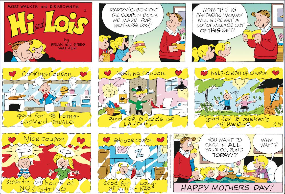 Hi and Lois Sunday page, May 14, 2000.