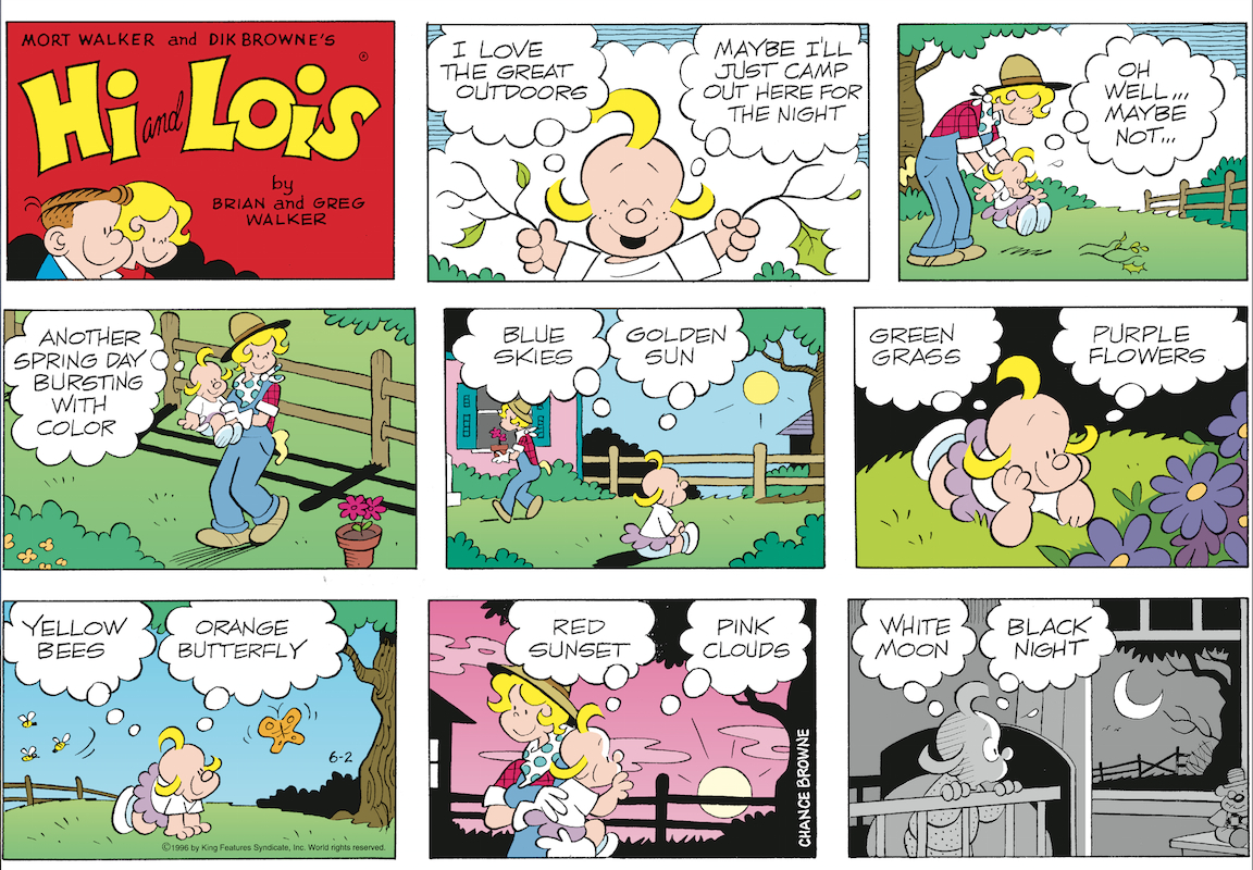 Hi and Lois Sunday page, June 12, 1996.