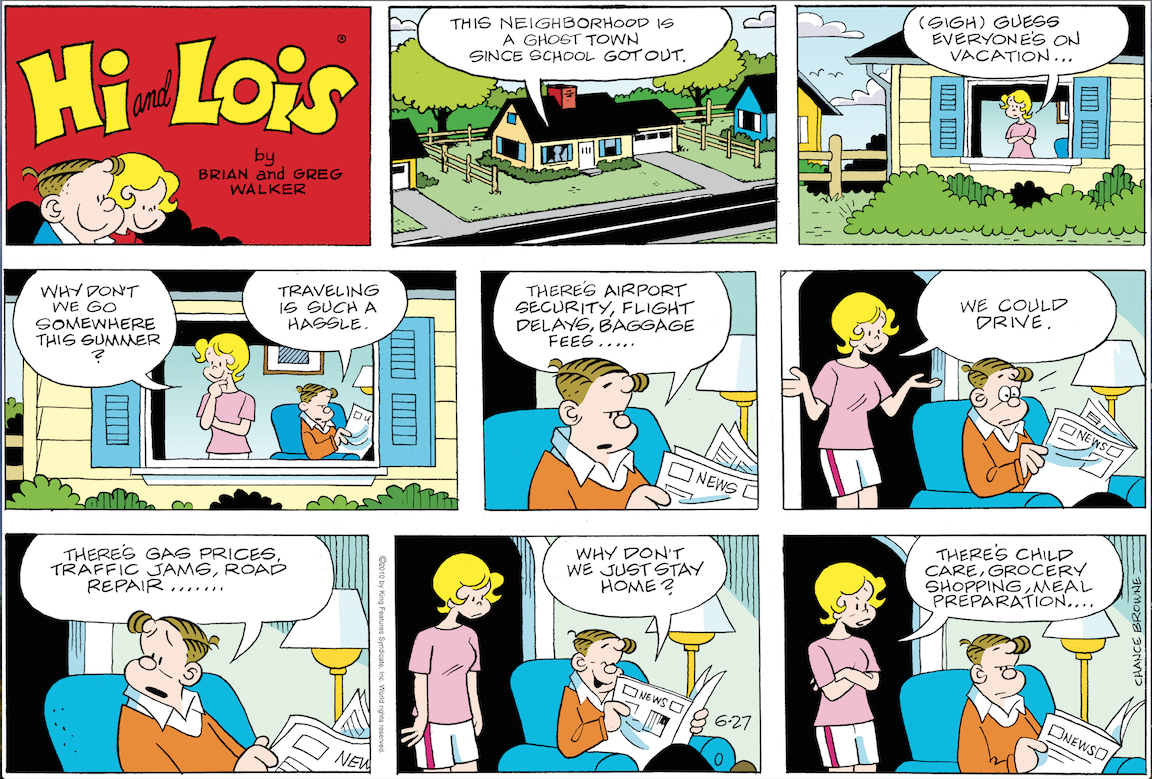 Hi and Lois Sunday page, June 27, 2010.