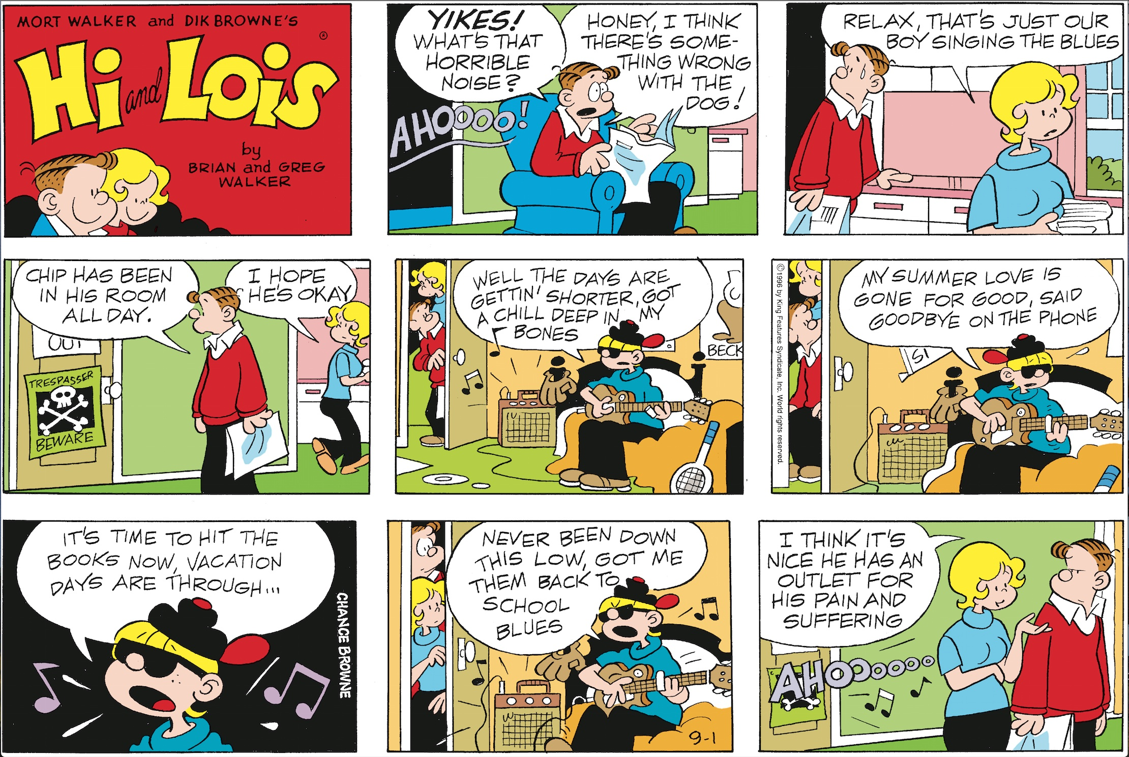 Hi and Lois Sunday page, September 1, 1996.