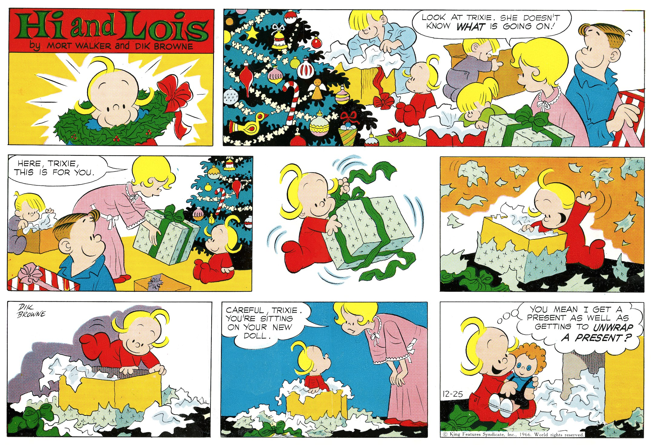 Hi and Lois Sunday page, December 25, 1966.