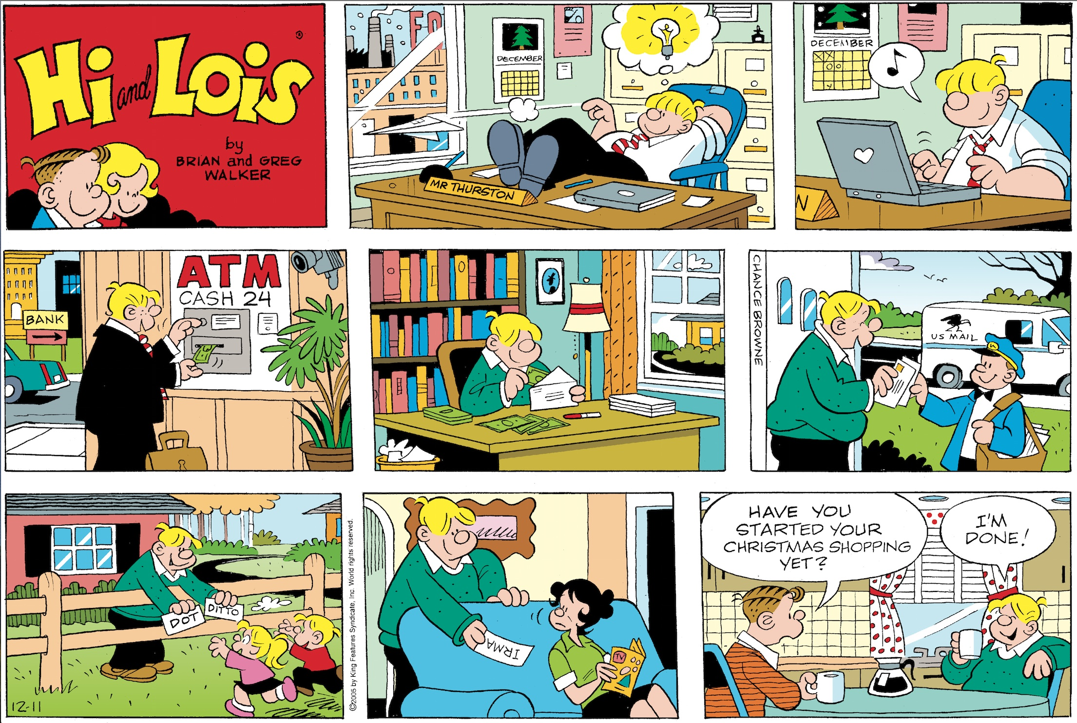 Hi and Lois Sunday page, December 11, 2005,