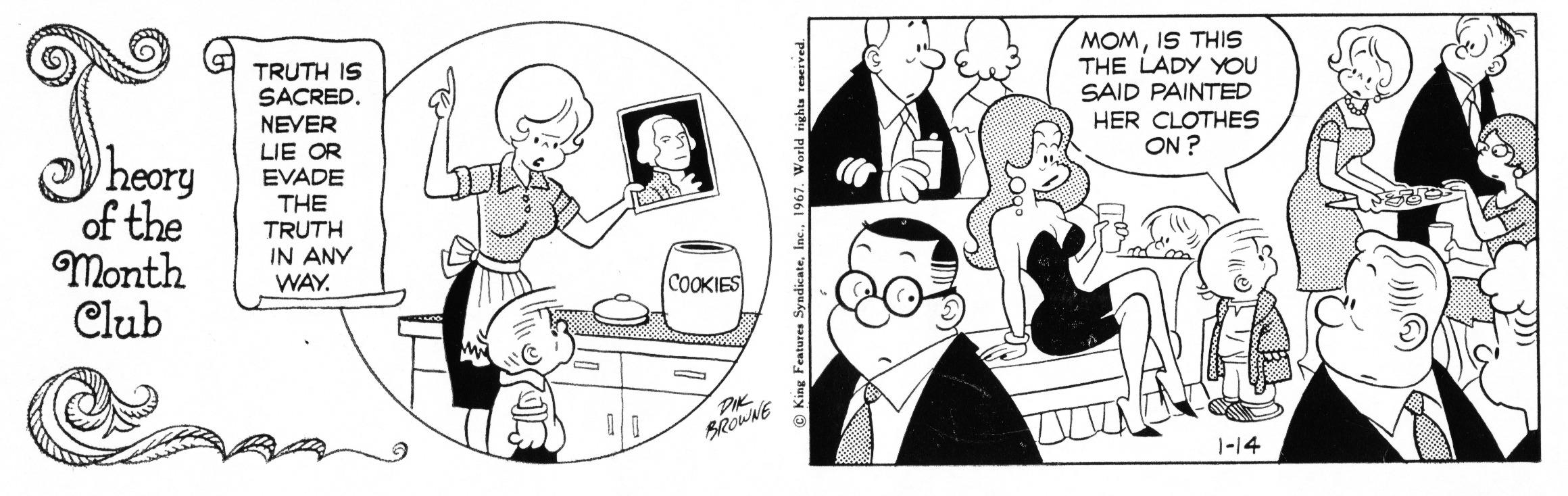 Hi and Lois daily strip, January 14, 1967.