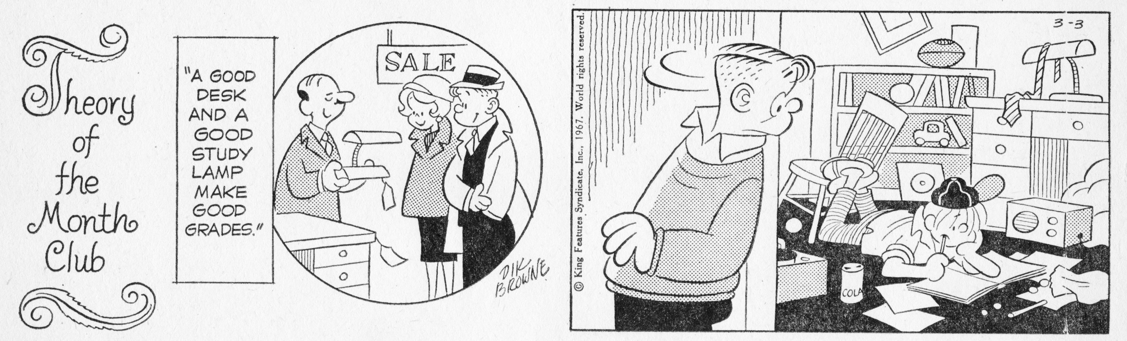 Hi and Lois daily strip, March 3, 1967.