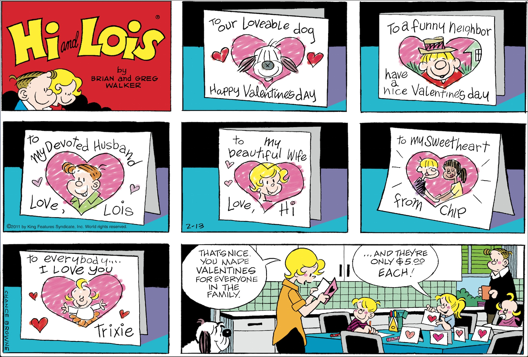 Hi and Lois Sunday page, February 13, 2011.