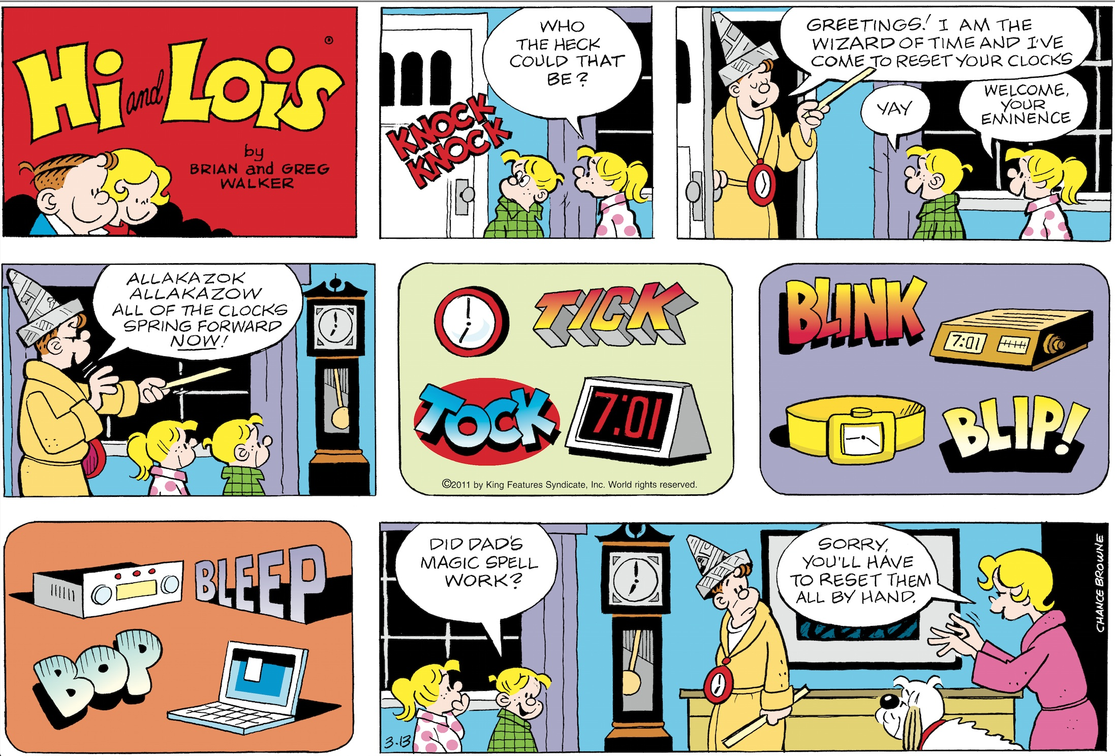 Hi and Lois Sunday page, March 13, 2011.