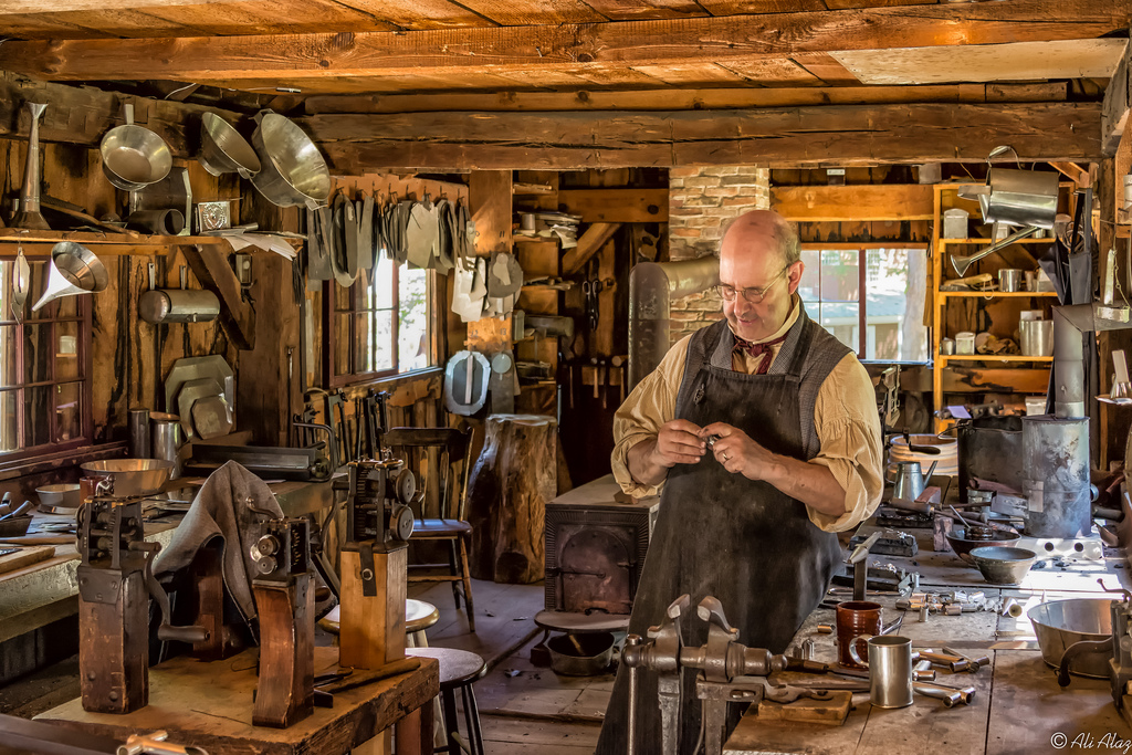 The Tin Shop at Old Sturbridge Village.