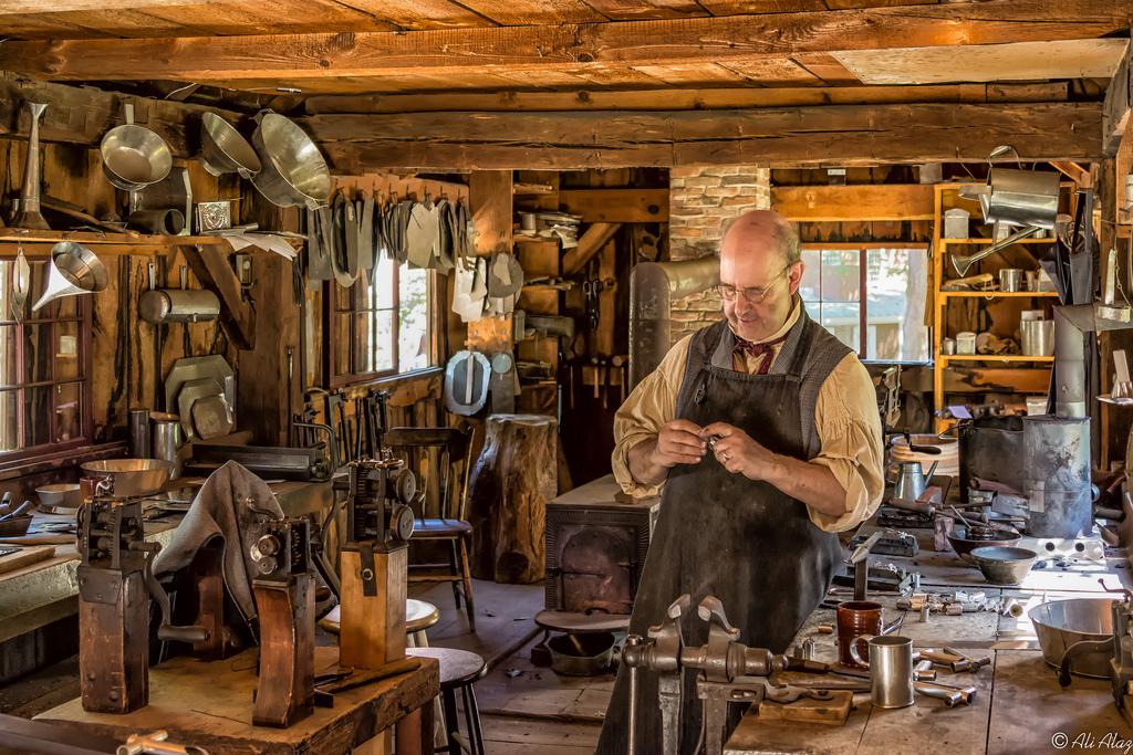 The Tin Shop at Old Sturbridge Village.