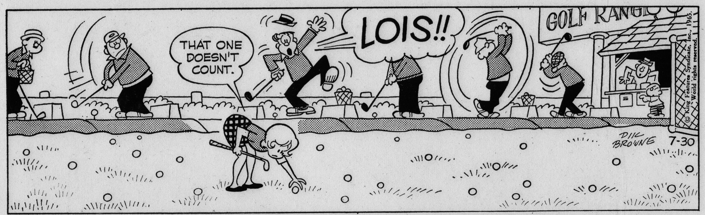 Hi and Lois daily strip, July 30, 1965.
