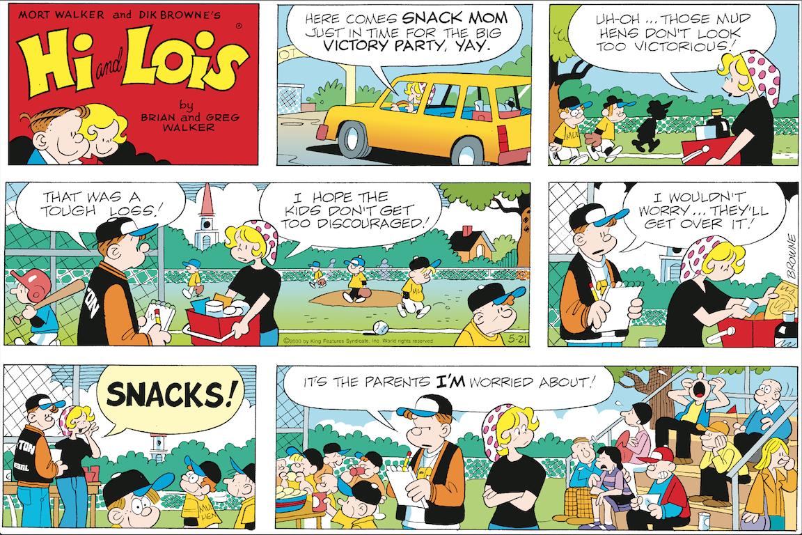 Hi and Lois Sunday page, May 21, 2000.