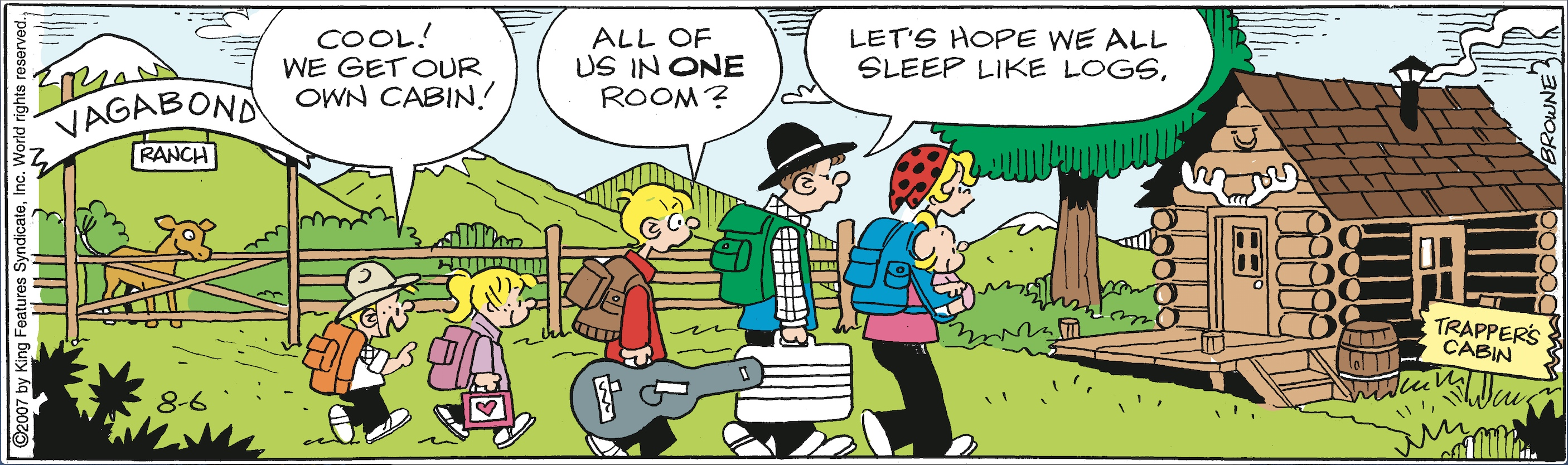 Hi and Lois daily strip, August 6, 2007.