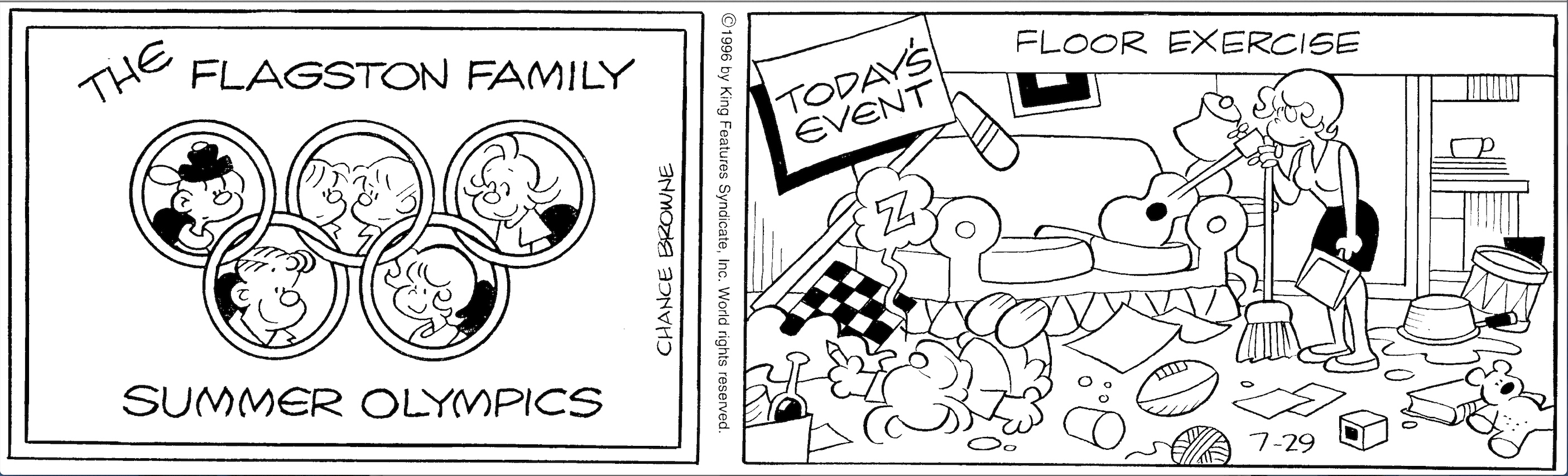 Hi and Lois daily strip, July 29, 1996.