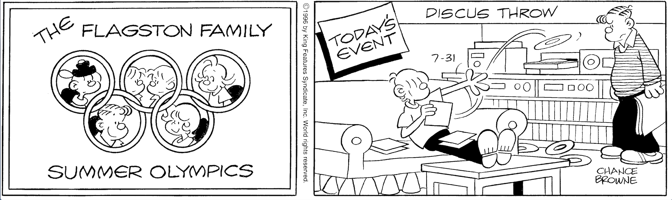 Hi and Lois daily strip, July 31, 1996.