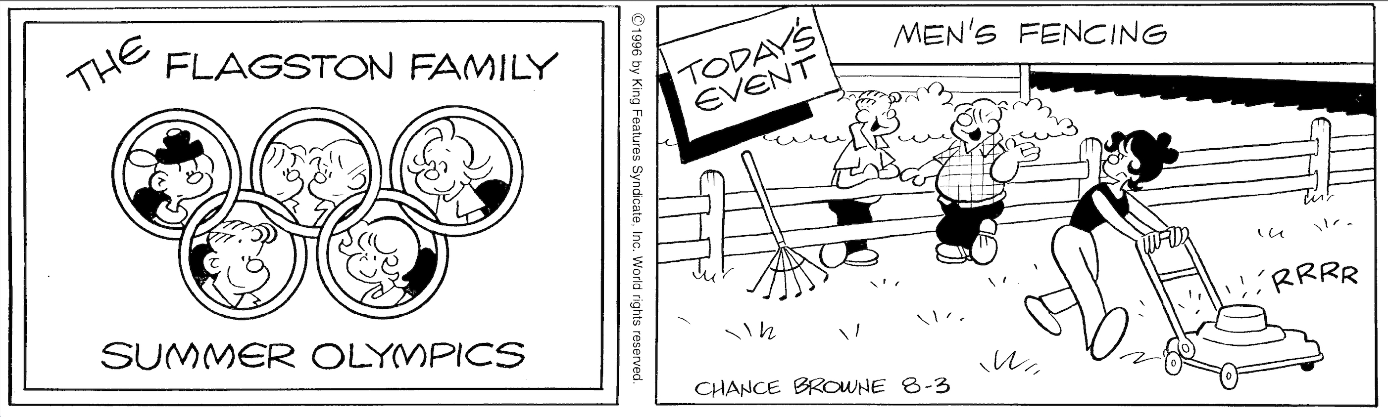 Hi and Lois daily strip, August 3, 1996.