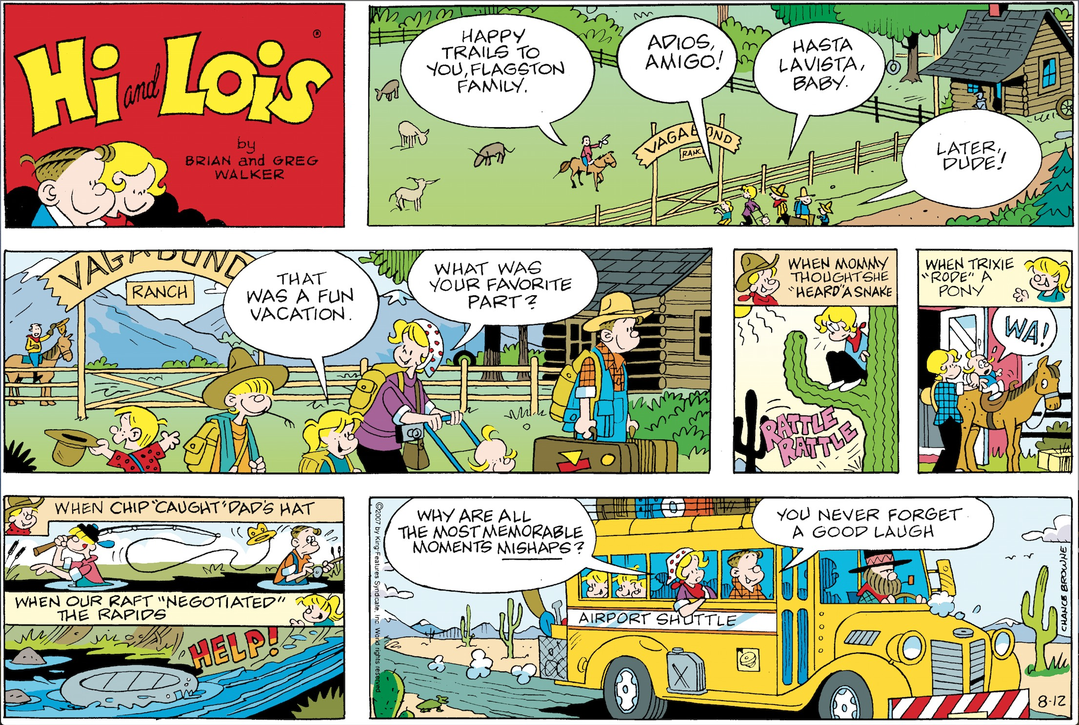 Hi and Lois Sunday page, August 12, 2007.