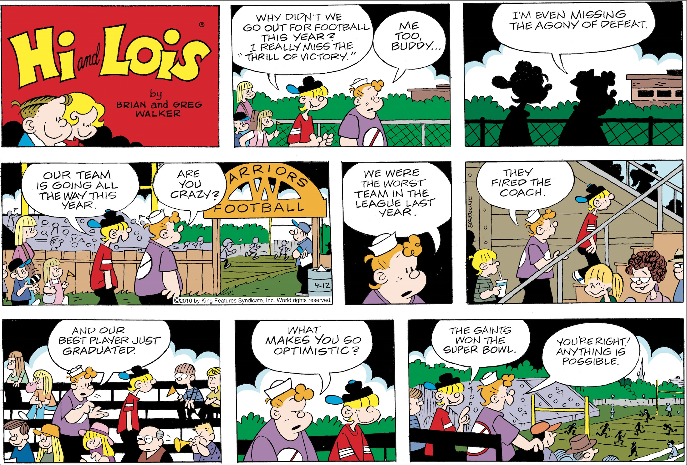 Hi and Lois Sunday page, September 12, 2010.