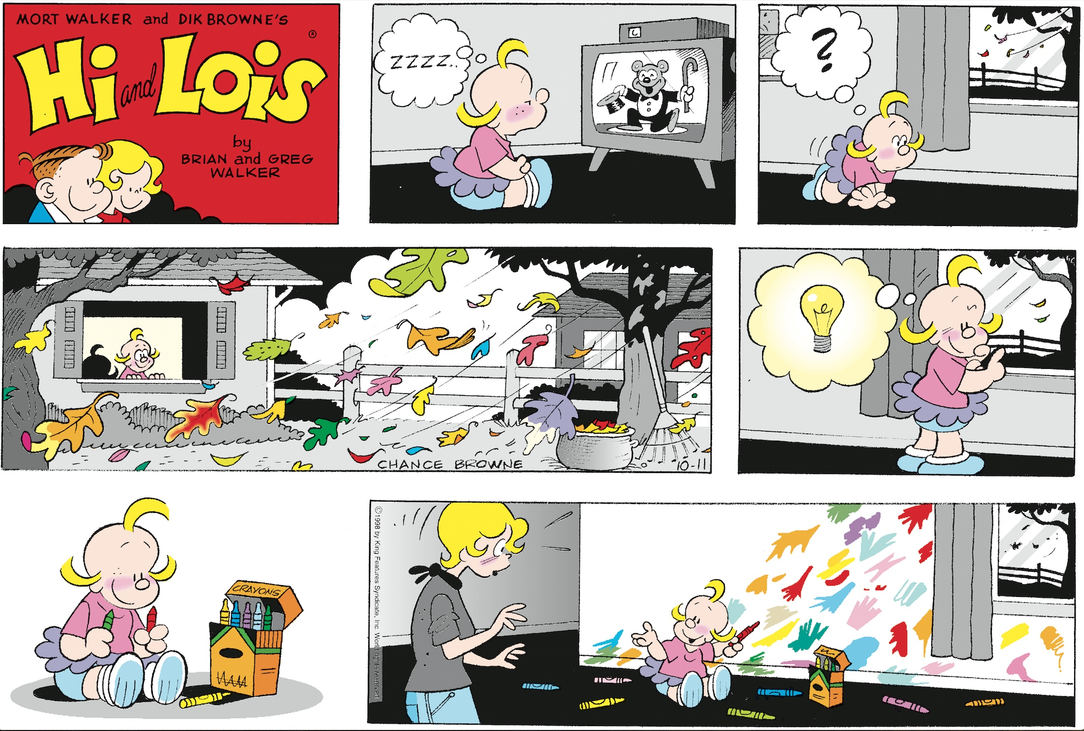 Hi and Lois Sunday page, October 11, 1998.