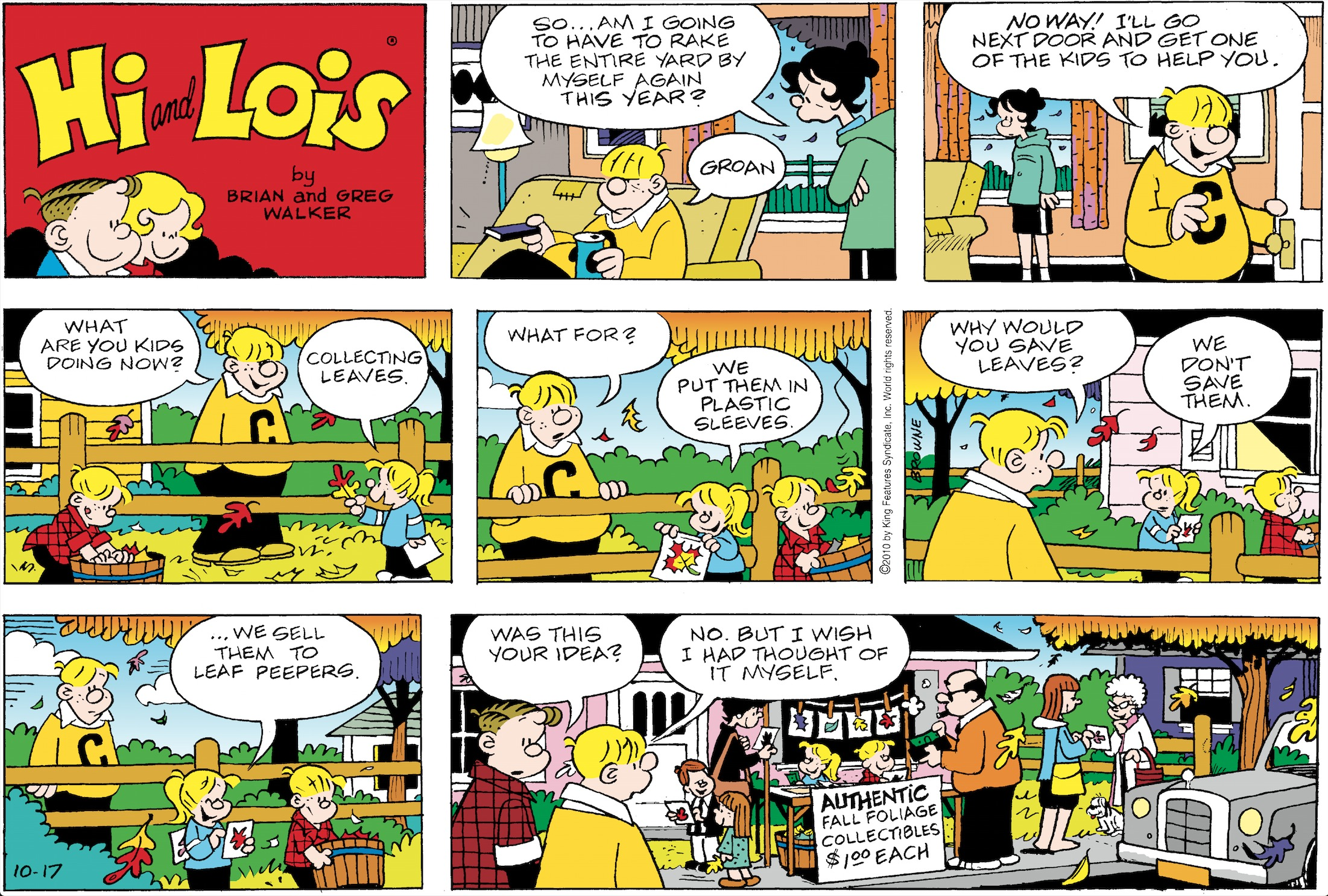 Hi and Lois Sunday page October 17, 2010.