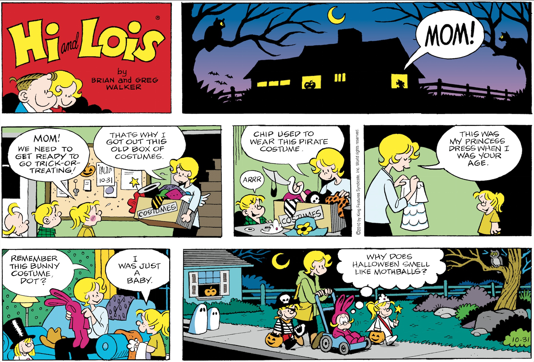 Hi and Lois Sunday page, October 31, 2010.
