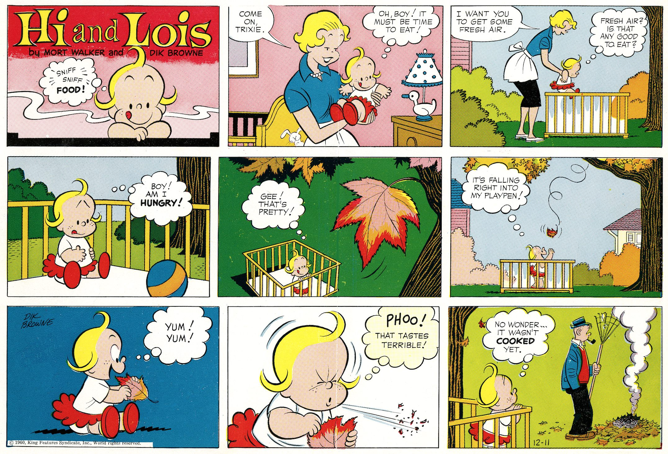 HI and Lois Sunday page color proof, December 11, 1960.