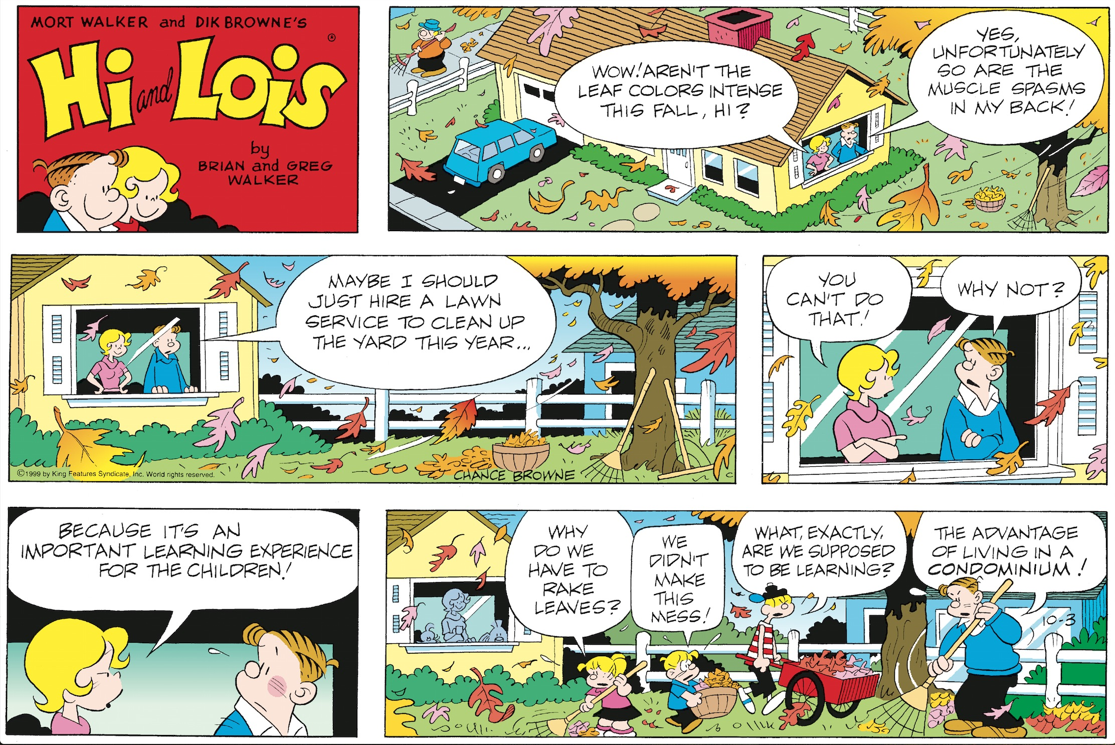 Hi and Lois Sunday page, October 3, 1999.