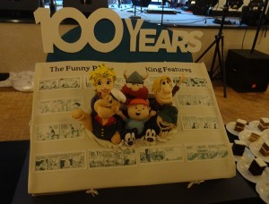 They had a very special King Features cake made just for us featuring many of our most popular characters: