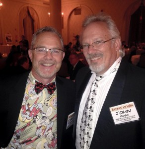 Comparing ties and vests at the after-party with Hi and Lois cartoonist, Eric Reaves!