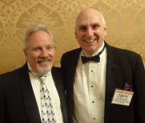 Jeff Stahler (Moderately Confused) and I I after the awards.  Jeff is a great friend and so very talented!