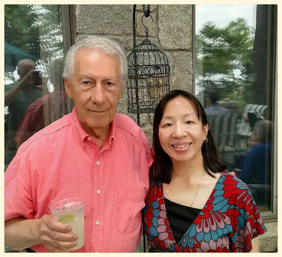 Joe Giella and Karen Moy at a recent cartoonists gathering in Long Island