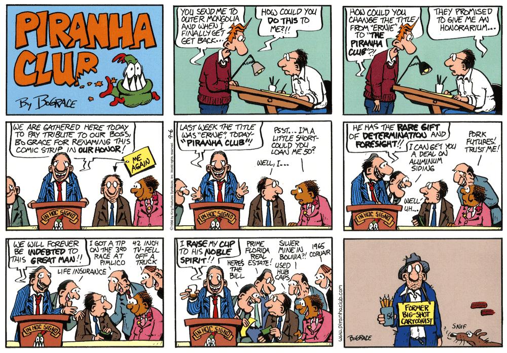 Piranha club comic strip