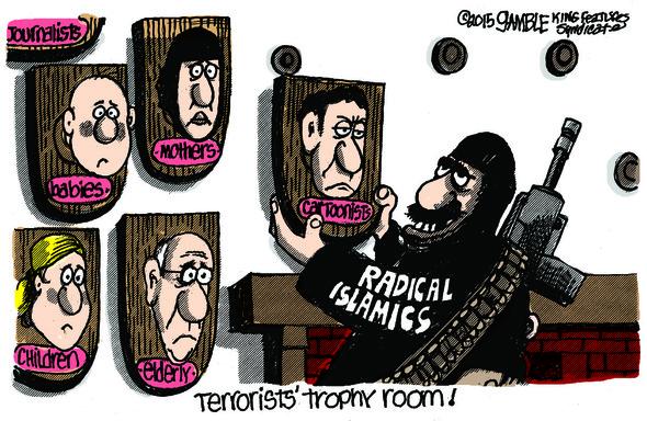 Editorial cartoonist Ed Gamble