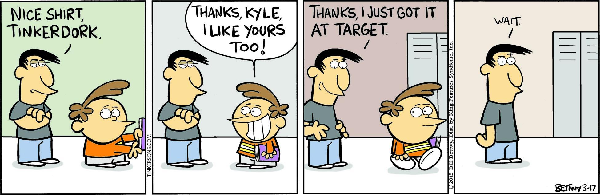 Comics Kingdom - Tuesday's Top Ten Comics: Bullies Beware! - 2015-03-17