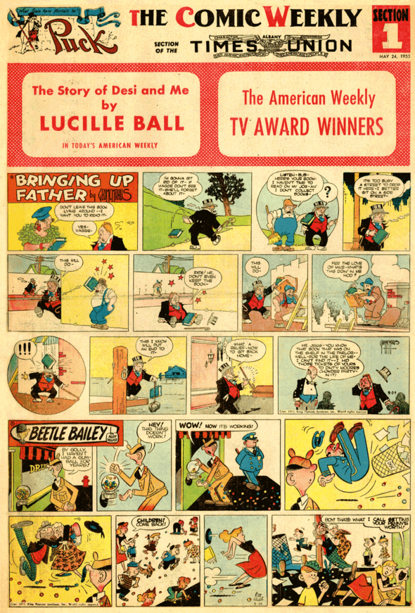 Albany Times-Union comic section from 1953