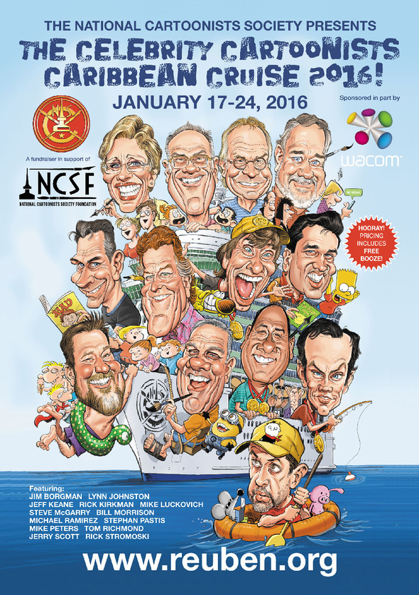 NCSF Celebrity Cartoonists Caribbean Cruise 2016